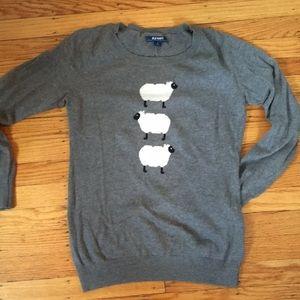 Heather gray sheep softest crew sweater